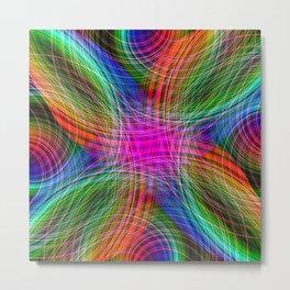 Rainbow Streaks Metal Print
