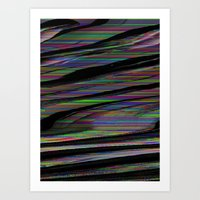 glitch Art Prints featuring Glitch by DDANIELL