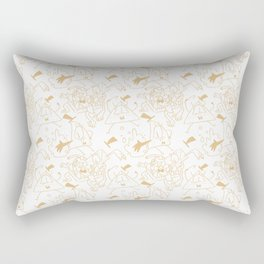 Bill Pattern Rectangular Pillow
