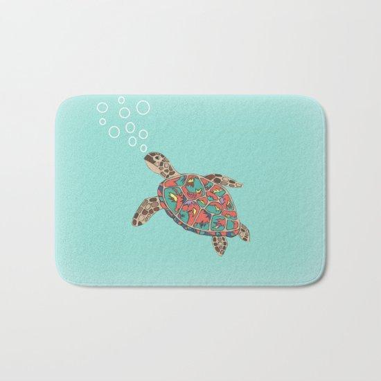 Cute Turtle Bath Mat