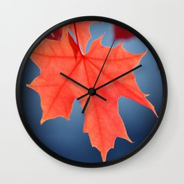VIBRANT FALL LEAVES Wall Clock