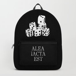 The die is cast-Alea iacta est-dice gaming-Luck Backpack