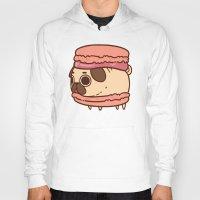 macaron Hoodies featuring Puglie Macaron by Puglie Pug