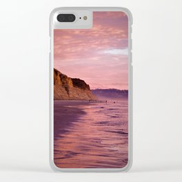 Sunset Walk along Torrey Beach by Reay of Light Photography Clear iPhone Case