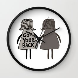 I Got Your Back Sister #GirlScouts #Fundraiser Wall Clock