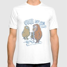 owls are nice Mens Fitted Tee MEDIUM White