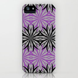 black and purple iPhone Case
