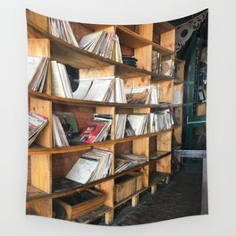 Albums On The Shelf Wall Tapestry
