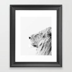 Lion print Framed Art Print
