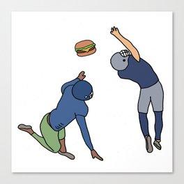 Hamburger Football Touchdown Canvas Print