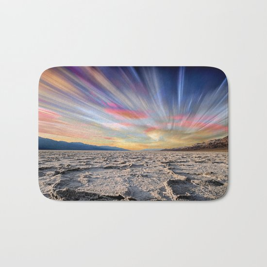Stopping Time : Colorful Sky Landscape Bath Mat
