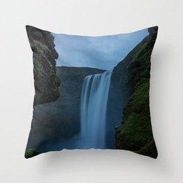 Cascading Waterss Throw Pillow