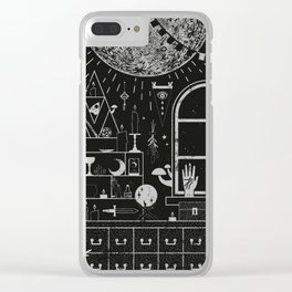 Moon Altar Clear iPhone Case