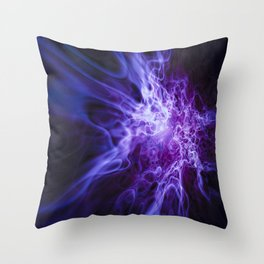 Real Purple Fire Throw Pillow