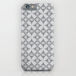 Abstract Circles - Gray Pattern iPhone Case