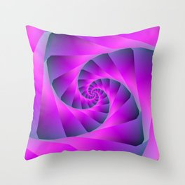 Pink and Blue Spiral Throw Pillow
