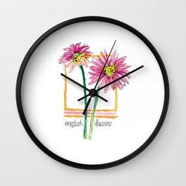 english daisies Wall Clock