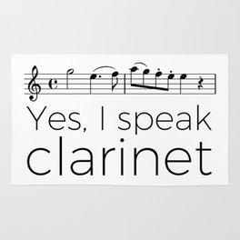 I speak clarinet Rug