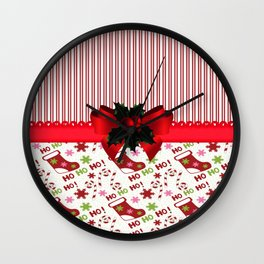 Chirstmas Stockings Wall Clock