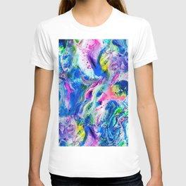 Bathbomb, fluid art, psychedelic art, trippy, psytrance, lsd, acid T-shirt