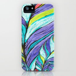 COLOURFUL LEAF AT HOME iPhone Case