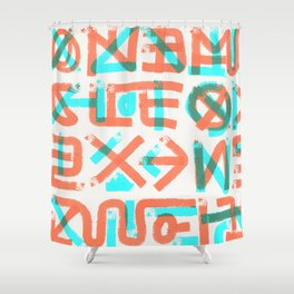 Abstract Graffiti Shower Curtain