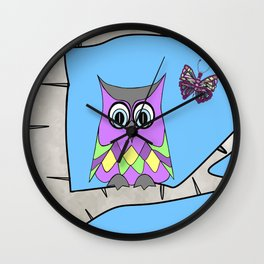 Spring Owl Wall Clock