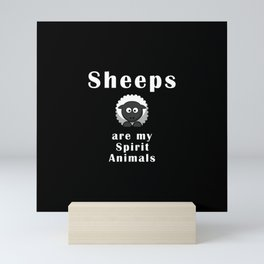 Sheeps are my spirit animals Mini Art Print