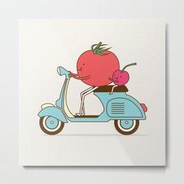 Cherry Tomato Metal Print