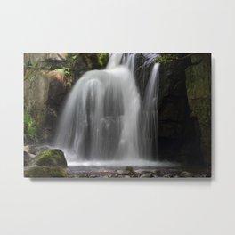 Waterfall at Lumsdale Mill Metal Print