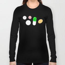 Deadly Pills Pattern Long Sleeve T-shirt