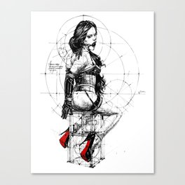 Love and Geometry. INK ART. Yury Fadeev Canvas Print