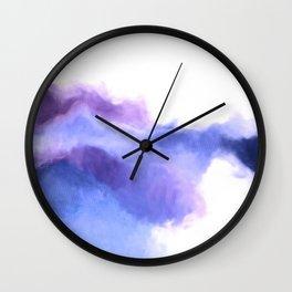 Purple Sky, White Light - abstract Wall Clock