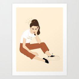 Procrastination Queen Art Print