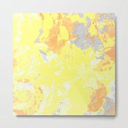Yellow Marbles Metal Print