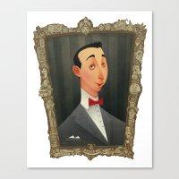 pee wee Canvas Prints featuring Pee Wee Herman by Audrey Benjaminsen