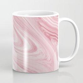 Soft Bubblegum Pink Marble Pattern Coffee Mug