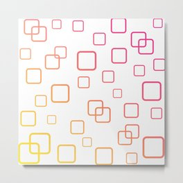 Pink and Yellow Digital Art Modern Ombre Metal Print