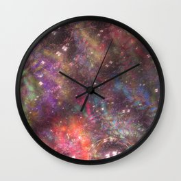 fractal: aurora borealis Wall Clock