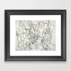 scribblesheet one Framed Art Print