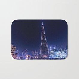Burj Khalifa Skyscraper In Dubai Bath Mat