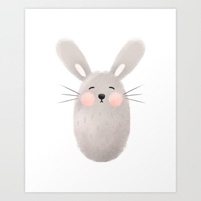 Rabbit Nursery Art Print
