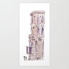 Corner Building Art Print