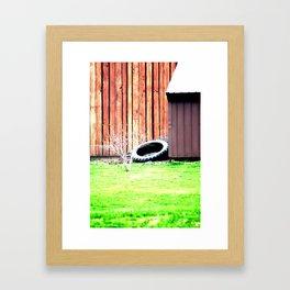 Old Tire Framed Art Print