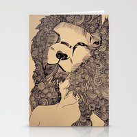 lions Stationery Cards featuring Lions by Zora Chen
