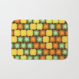 Random hibiscus pattern Bath Mat