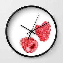 Raspberries Watercolor Wall Clock