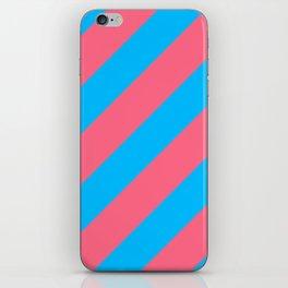 Stripes Diagonal Pink & Blue iPhone Skin