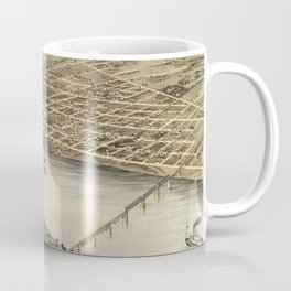 Vintage Map of St Charles MO (1869) Coffee Mug
