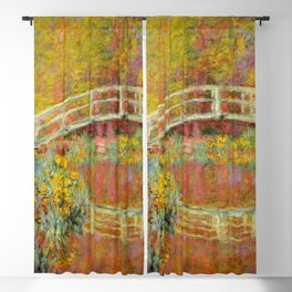 """Claude Monet """"The Japanese Bridge at Giverny"""" Blackout Curtain"""